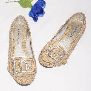 Rampage Lullaby 2 Snake Print Slip On Loafers, 6